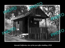 OLD LARGE HISTORIC PHOTO OF KAWEAH CALIFORNIA, VIEW OF THE POST OFFICE c1920