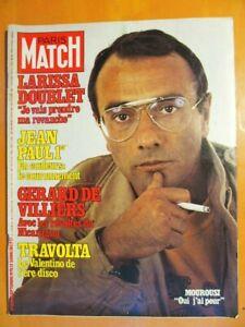 Paris Match N° 1529 du 15/09/1978- Y.Mourousi-Larissa Doublet-Gérard de Villiers