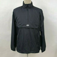 Obey Men's Hooded Jacket Runaround Eyes Anorak Black Size M NWT Andre