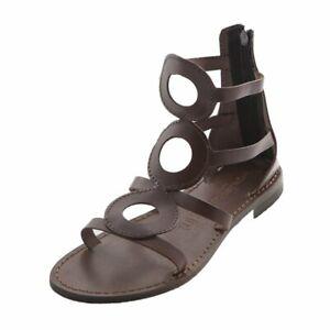 Sandali e scarpe gladiatori per il mare da donna in VERA PELLE Cecilia Marrone