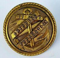 Shipping Federation Victorian Gilt Brass Officers / Crew Uniform Button 25mm -
