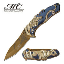 Master Collection Titanium Blade Dragon Wrap MC-A045BL Zinc alloy Handle Knife