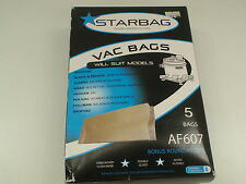 STARBAG AF607 VACUUM CLEANER BAG TO SUIT AQUAVAC BLACK & DECKER MODELS 5 BAGS