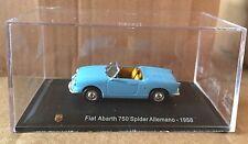 """DIE CAST """" FIAT ABARTH 750 SPIDER ALLEMANO - 1958 """" + TECA  BOX 2 SCALA 1/43"""