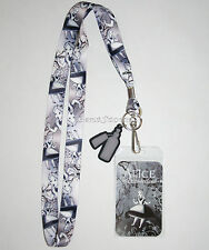 Alice In Wonderland Gothic Falling Lanyard ID Card Pin Holder Neck Strap Disney
