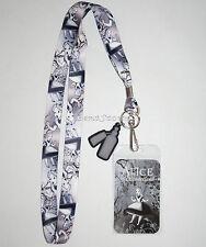 Alice In Wonderland Gothic Falling Lanyard ID Card Pin Holder Neck Strap Disney
