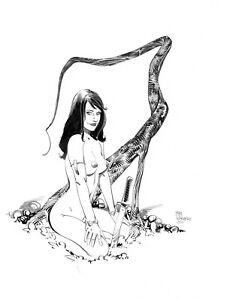 Sexy Jungle Girl pin up original  art  by Paradis
