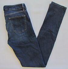 "Gap Mid Rise Skinny Jeans 29 8 Tall Long Dark Blue Stretch Slim 1969 denim 34"""