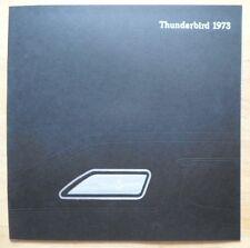 FORD THUNDERBIRD ORIG 1973 USA MKT grand format brochure catalogue de vente de prestige