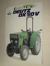 Prospectus Tracteur DEUTZ DX 50V  tractor Traktor Trattore Trattore Prospekt