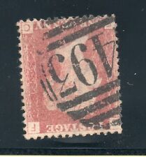 QV 1858 sg 34/44  penny red plate 154 wmk inv ( F C )