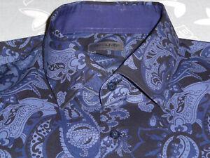 SIR OLIVER Paisley Hemd dunkelblau Gr. 41 slim fit