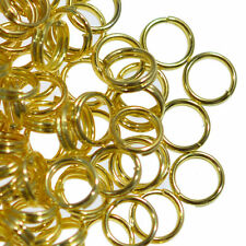 200 Oro Placcato SPLIT doppio occhiello metallo ANELLI Aperti 5mm Gioielli Making
