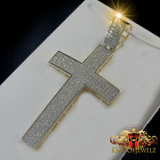 10K REAL SOLID YELLOW GOLD MEN'S WOMEN'S CROSS PENDANT CHARM 2.0 INCH 6.0 GRAMS