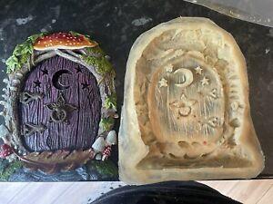 mushroom Fairy Door Rubber Latex Mould Moon Stars Fairy Garden Toadstool Mold