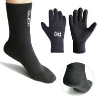 Swimming 3MM Neoprene Wetsuit Gloves Socks Booties Diving Snorkeling Cold-proof