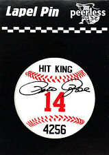 PETE ROSE Lapel/Hat Pin #14 HIT KING ---Officially Licensed--Baseball Shaped