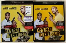 Central Intelligence Unrated 4K Ultra Hd Blu Ray 2 Disc Set + Rare Oop Slipcover