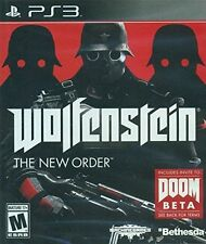 Wolfenstein: The New Order [PlayStation 3 PS3, Doom FPS Bethesda WWII Shooter]