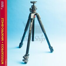Manfrotto MT055XPRO3 Aluminum Tripod with BHQ2 XPRO Ball Head # MK055XPRO3-BHQ2