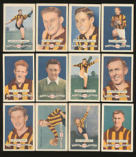 1958 Atlantic Petrol Hawthorn Team Set 12 Cards Picture Pageant Card