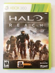 Halo: Reach (Xbox 360, 2010) Tested CIB Complete Game Spartan Recon Helmet