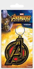 Avengers Infinity War Avengers Symbole Caoutchouc Keychain Porte-clés Métal