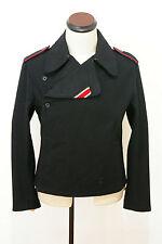 WWII German Elite panzer black wool wrap/jacket S
