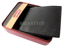 NIB Auth.Mens LEVIS Wallet Black 31LP2206  + Gift Box