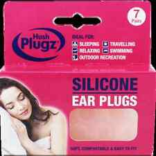 7 Pairs Hush Plugz Ear Plugs Soft Silicone Earplugs Custom Mould to your Ear