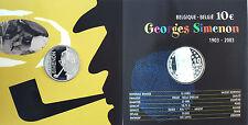 10  EUROS  ARGENT  2003  ,  GEORGES SIMENON , DANS SON COFFRET D'ORIGINE , PROOF