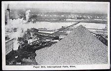 INTERNATIONAL FALLS MN ~ 1900's PAPER MILL ~ Huge Conveyor Belt