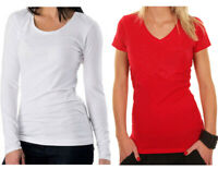 PACKS Women's Bamboo Long / Short sleeve T-shirts in 4 colours + FAST/FREE POST