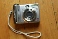 CANON POWERSHOT A560 DIGITAL CAMERA 4X OPTICAL ZOOM 7.1MP SILVER WORKING