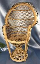 "Clean Doll Chair: Peacock Style - 16"" Tall — Hawaiian Pineapple. #2288"