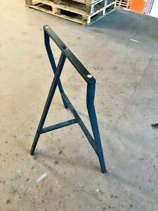IKEA ALL PURPOSE LERBERG TRESTLE TABLE Metal Stand Leg,70x60 cm,Grey