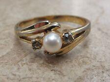 Pearl Ring Vintage Costume Jewellery (1980s)