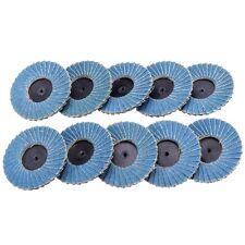 10pcs 3 In Roloc Flap Sanding Discs Wheels 60 Grit Threaded Twist Roll Lock Disc