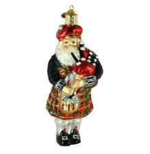 Old World Christmas 40139 Glass Blown Highland Santa Ornament