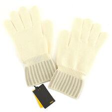 Fendi gloves White Beige Woman unisex Authentic Used T875