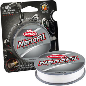 Berkley NanoFil Uni-Filament Fishing Line (150 yds) - Clear Mist
