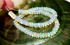 AAA+ RARE POLISHED WELO OPAL BEADS - BRIGHT NATURAL FIRE - RICH BRIGHT COLORS