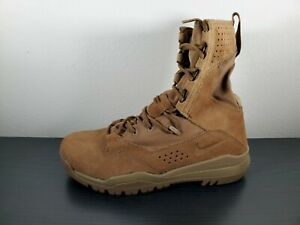 """SZ 8.5 NIKE SFB FIELD 2 - 8"""" MILITARY COYOTE LEATHER BOOTS AQ1202 900 MENS"""
