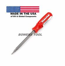 Enderes Tool Pocket 2 in 1 Red Screwdriver Phillips Flat Made In USA 2-1