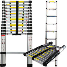 Telescopic Extension Ladder Heavy Duty Giant Aluminum 12.5 Feet Multi Purpose