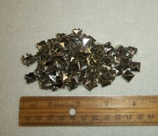 "Lot of 100 Vintage 1//4/"" Brass Chrome 8 Prong Studs Leather Punk Metal Stud"