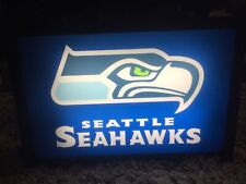 Vintage Nfl Seattle Seahawks Man Cave Bar Light Sign Lamp With Beer Ice Bucket