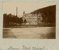 Norvège, Bergen, l'hôtel métropole  vintage albumen print,Photos provenan