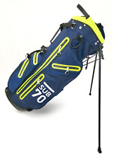 2018 Sub70 Golf Tour Men's Waterproof Navy/Lime Carry Stand  Bag 14 Way Divider