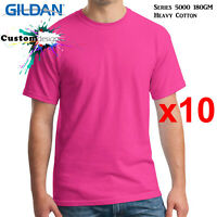 10 Packs Gildan Heliconia T-SHIRT Basic Tee S - 5XL Men Heavy Cotton